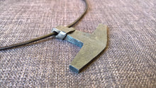Larg Thors hammer mjolnir pendant necklace hand forged iron goth pagan