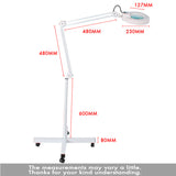 36 LED 4 Wheels Light Magnifying Lamp