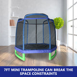 7FT Hexagon Trampoline Enclosure Blue