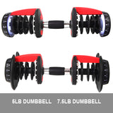 2x 24KG Adjustable Dumbbell Set Fitness Weights Plate