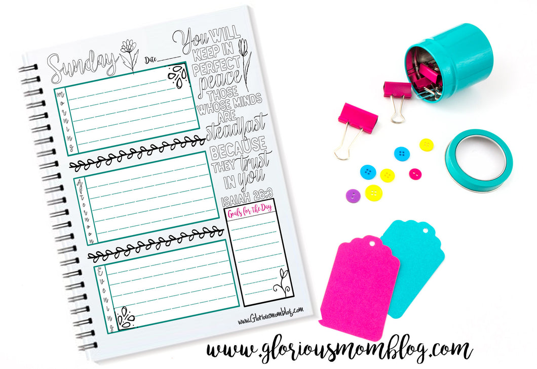Glorious Daily Planner