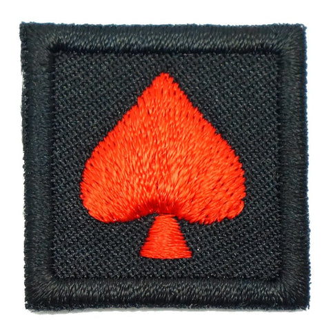 "1"" MINI SPADE PATCH - BLACK - Hock Gift Shop 