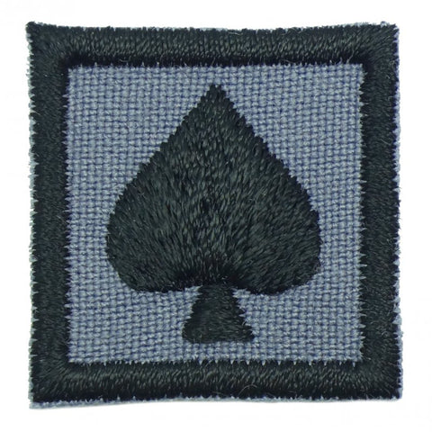 "1"" MINI SPADE PATCH - GREY - Hock Gift Shop 