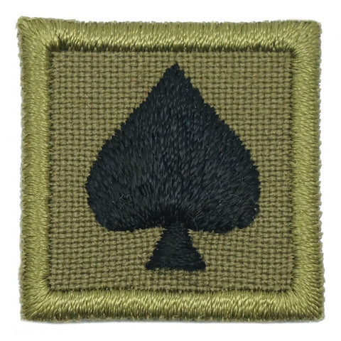 "1"" MINI SPADE PATCH - OLIVE GREEN - Hock Gift Shop 