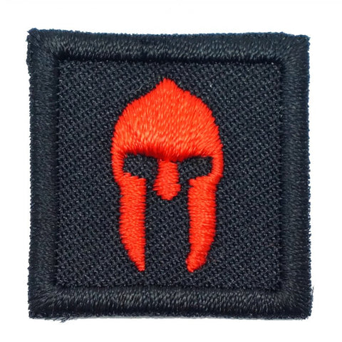 "1"" MINI SPARTAN HELMET PATCH - BLACK"