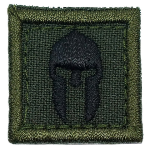 "1"" MINI SPARTAN HELMET PATCH - FOREST"