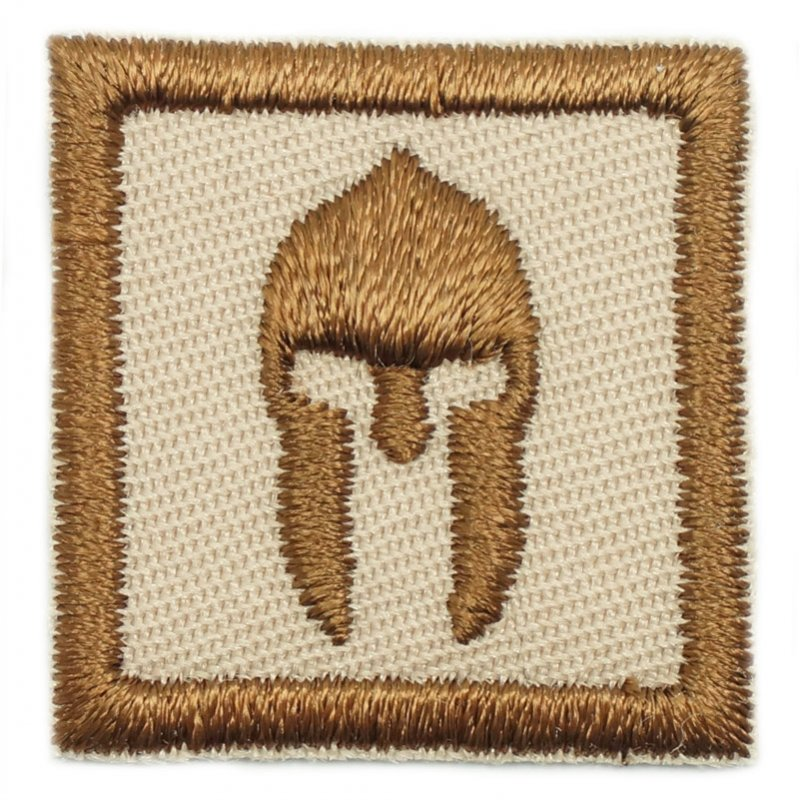 "1"" MINI SPARTAN HELMET PATCH - KHAKI - Hock Gift Shop 