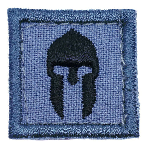"1"" MINI SPARTAN HELMET PATCH - SHADOW GREY"