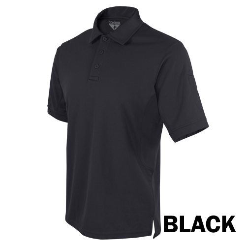 CONDOR PERFORMANCE TACTICAL POLO T-SHIRT - BLACK