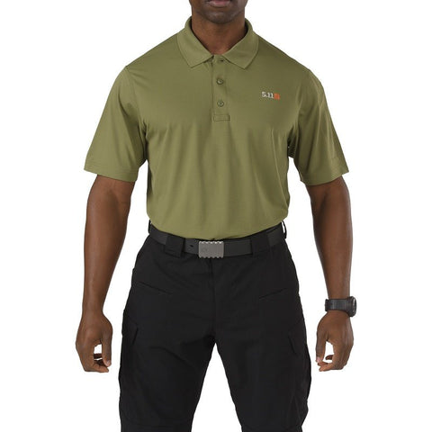 5.11 PINNACLE SHORT SLEEVE POLO T-SHIRT - FATIGUE - Hock Gift Shop | Army Online Store in Singapore