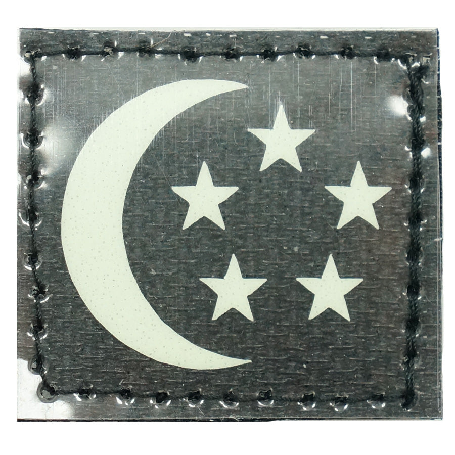 1 INCH SINGAPORE PATCH - GLOW IN THE DARK