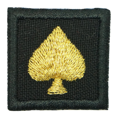 "1"" MINI SPADE PATCH - BLACK GOLD"