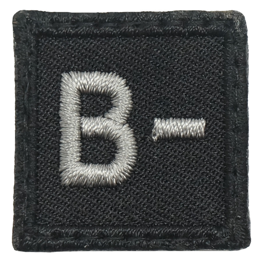 "HGS BLOOD GROUP 1"" PATCH, B- (BLACK FOLIAGE)"