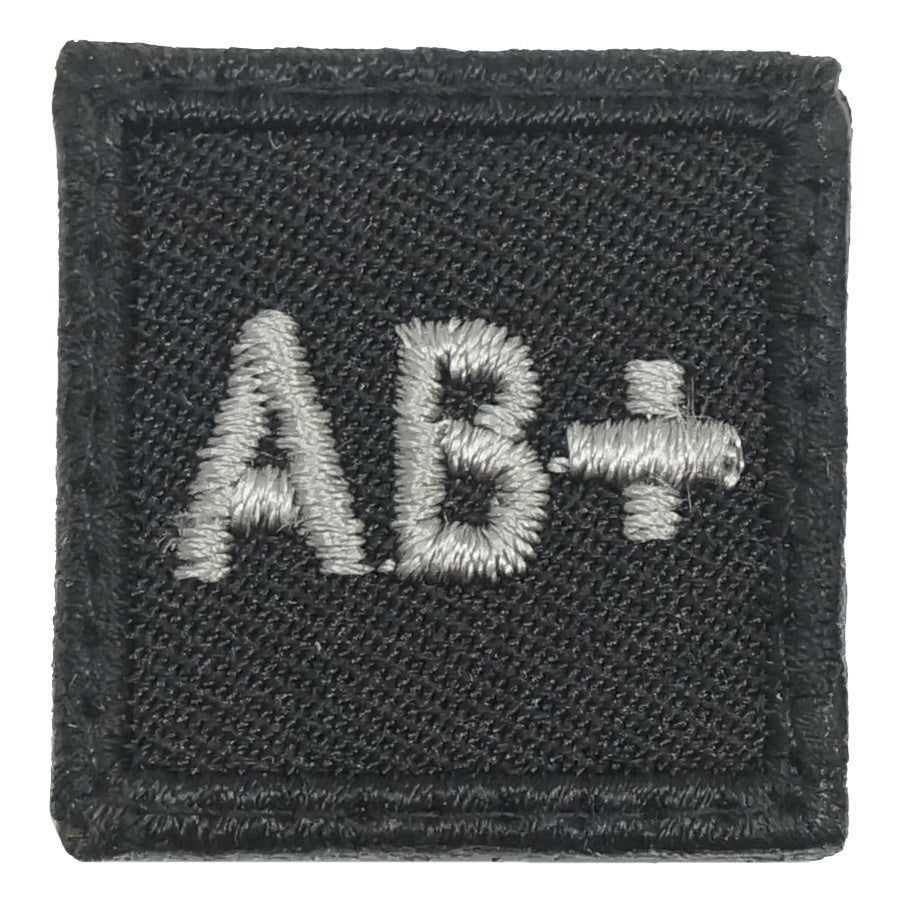 "HGS BLOOD GROUP 1"" PATCH, AB+ (BLACK FOLIAGE)"