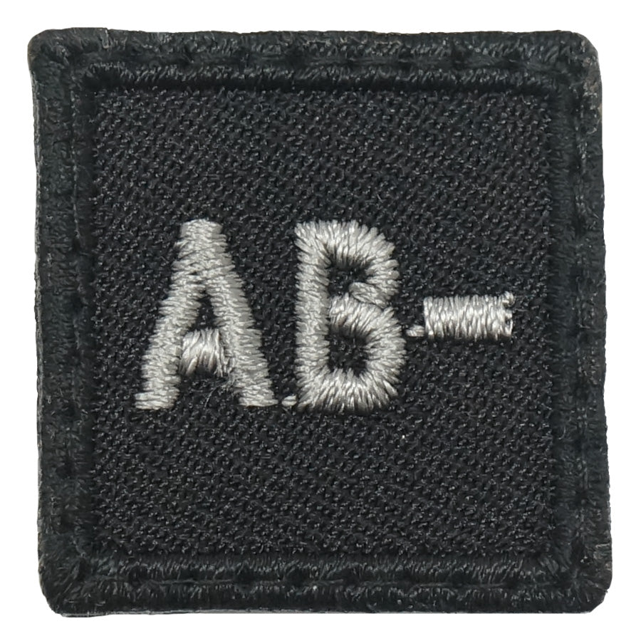 "HGS BLOOD GROUP 1"" PATCH, AB- (BLACK FOLIAGE)"
