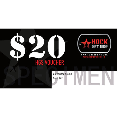 HGS GIFT VOUCHER - $20 - Hock Gift Shop | Army Online Store in Singapore