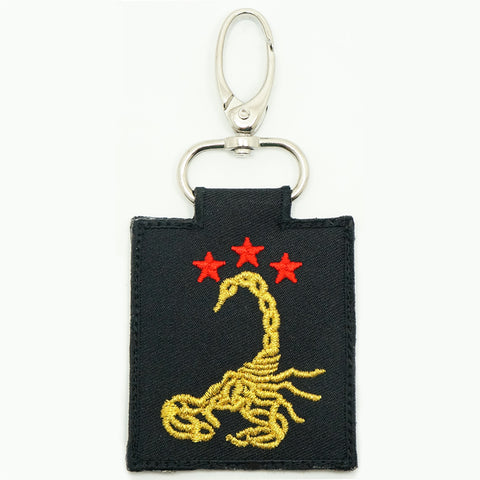 3 SIR LOGO KEYCHAIN - BLACK