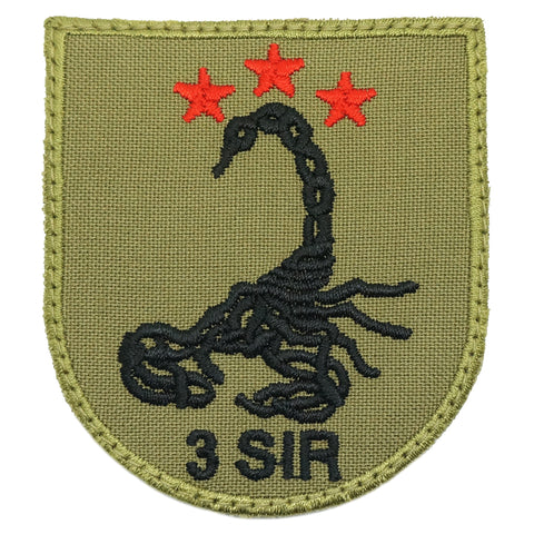 3 SIR LOGO PATCH - OLIVE GREEN
