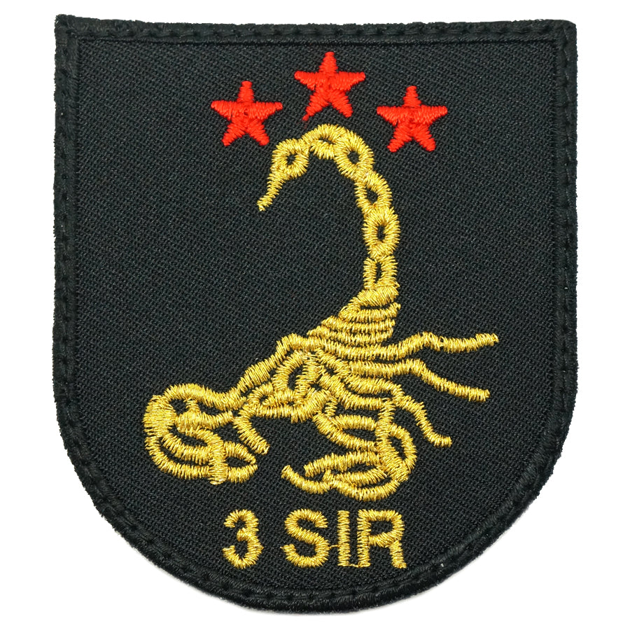 3 SIR LOGO PATCH - BLACK