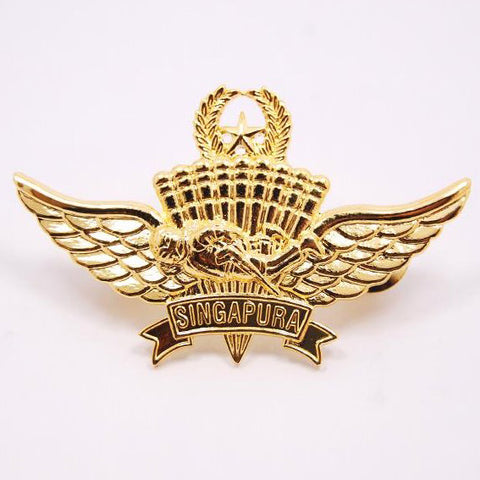 SAF #3 PIN - GOLD MILITARY FREEFALL - Hock Gift Shop | Army Online Store in Singapore