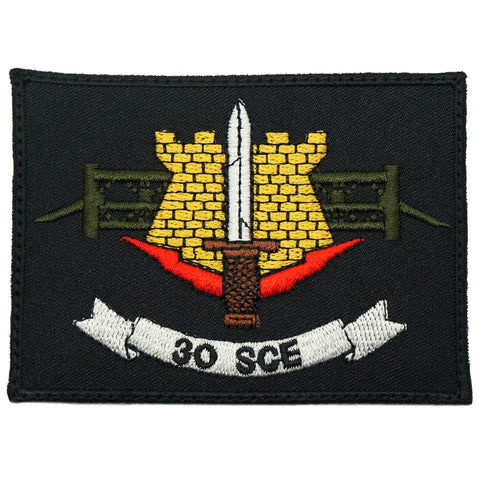 30 SCE LOGO PATCH - BLACK
