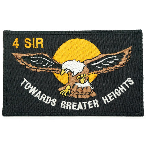 4 SIR LOGO PATCH - BLACK
