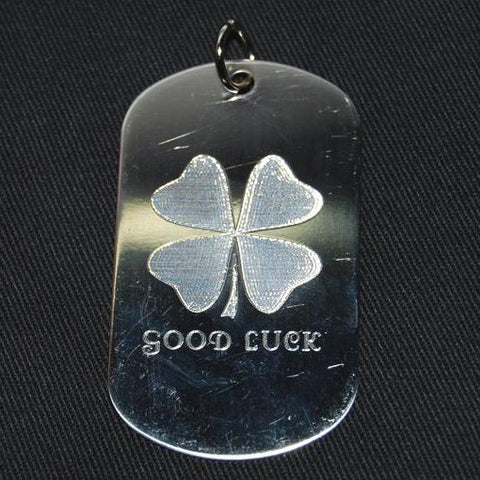 4-LEAF CLOVER DOG TAG