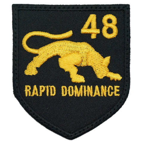48 SAR LOGO PATCH - RAPID DOMINANCE (BLACK GOLD)