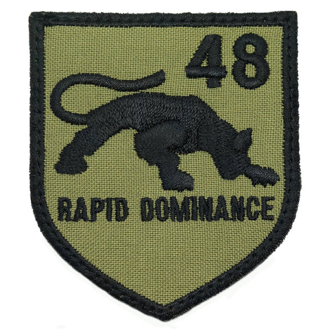 48 SAR LOGO PATCH - RAPID DOMINANCE (OLIVE GREEN)