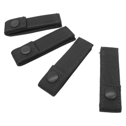 "CONDOR 4"" MOD STRAP (4PCS / PACK) - BLACK"