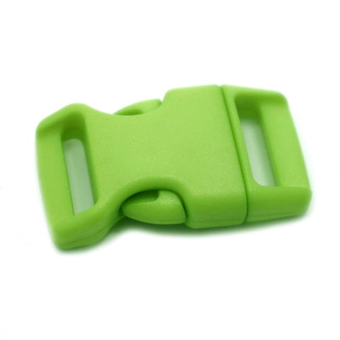 4CM CONTOURED CURVED PLASTIC BUCKLE - AVOCADO