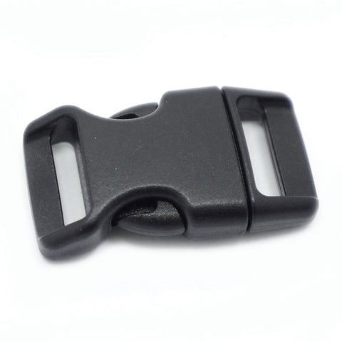 4CM CONTOURED CURVED PLASTIC BUCKLE - BLACK