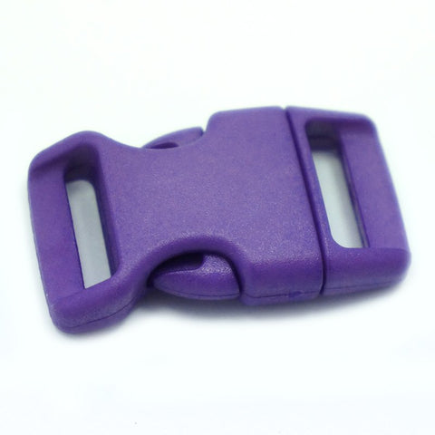 4CM CONTOURED CURVED PLASTIC BUCKLE - DARK PURPLE