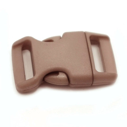 4CM CONTOURED CURVED PLASTIC BUCKLE - FADED BROWN