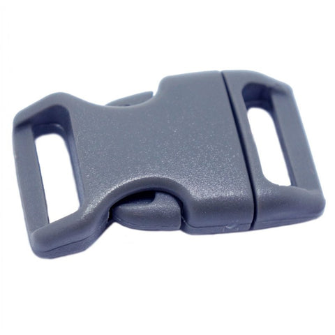 4CM CONTOURED CURVED PLASTIC BUCKLE - GREY