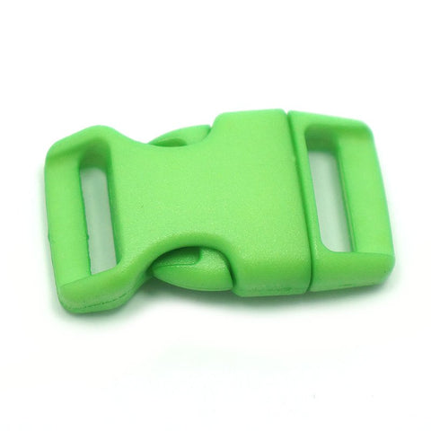 4CM CONTOURED CURVED PLASTIC BUCKLE - GREEN APPLE