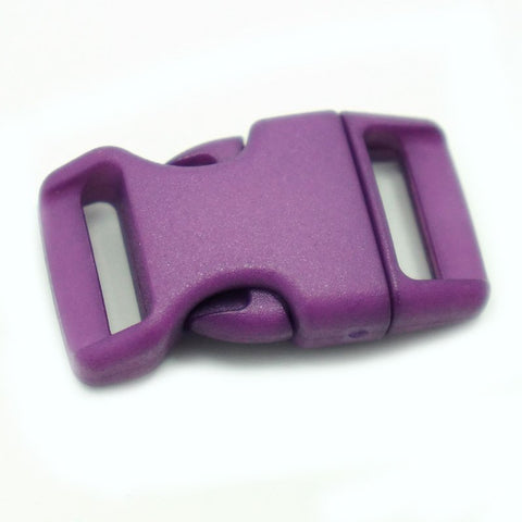 4CM CONTOURED CURVED PLASTIC BUCKLE - PURPLE