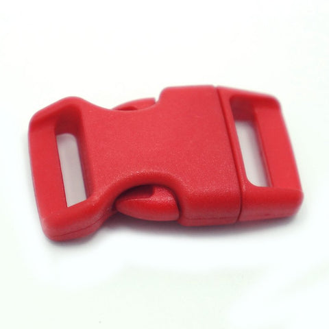 4CM CONTOURED CURVED PLASTIC BUCKLE - RED