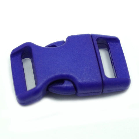4CM CONTOURED CURVED PLASTIC BUCKLE - ROYAL BLUE