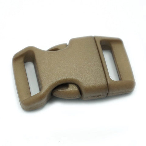 4CM CONTOURED CURVED PLASTIC BUCKLE - TAN