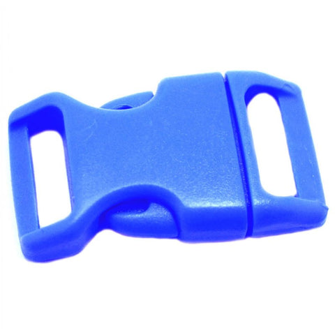 4CM CONTOURED CURVED PLASTIC BUCKLE - TOY BLUE