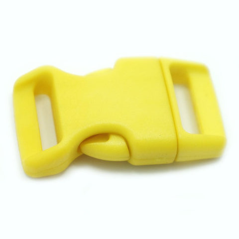 4CM CONTOURED CURVED PLASTIC BUCKLE - YELLOW