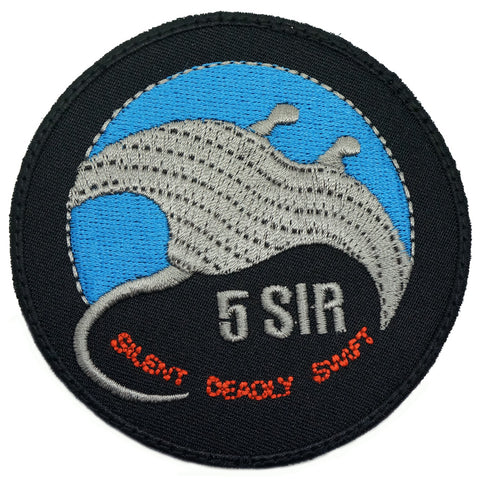 5 SIR LOGO PATCH - BLACK BLUE