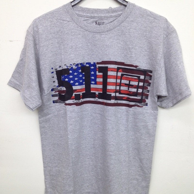 5.11 OLD GLORY T-SHIRT - HEATHER - Hock Gift Shop | Army Online Store in Singapore