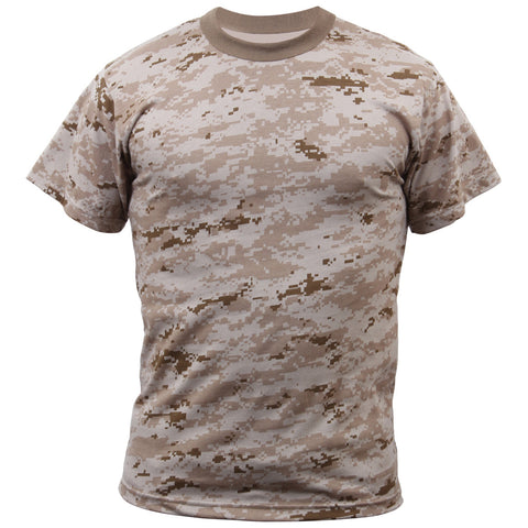 ROTHCO CAMO T-SHIRT - DESERT DIGITAL - Hock Gift Shop | Army Online Store in Singapore