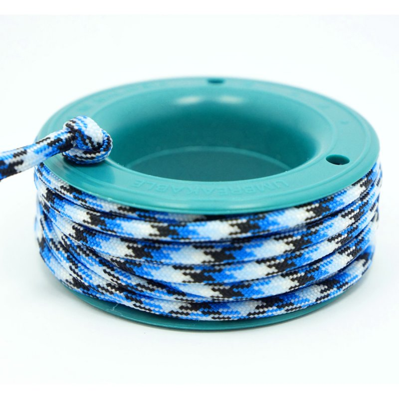 550 PARACORD MINI SPOOL - BLUE SNAKE - Hock Gift Shop | Army Online Store in Singapore