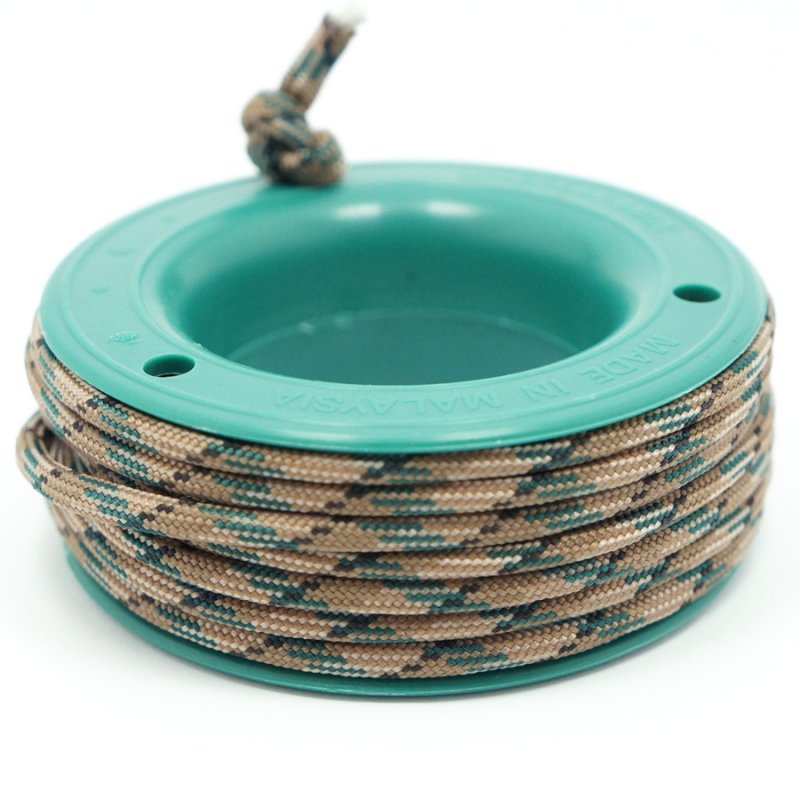 550 PARACORD MINI SPOOL - COFFEE GRASS CAMO - Hock Gift Shop | Army Online Store in Singapore