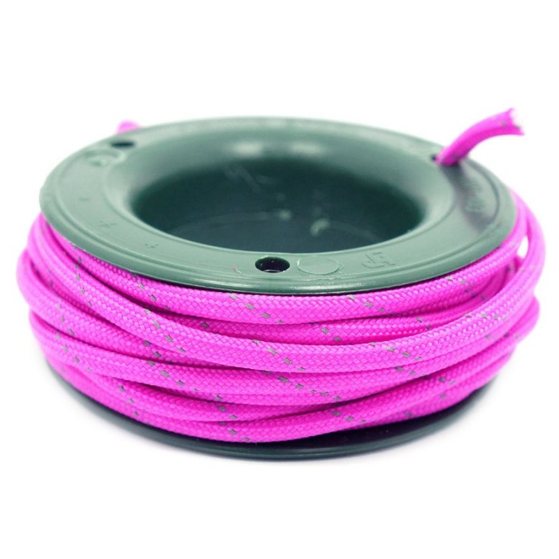 550 PARACORD MINI SPOOL - DARK PINK REFLECTIVE - Hock Gift Shop | Army Online Store in Singapore