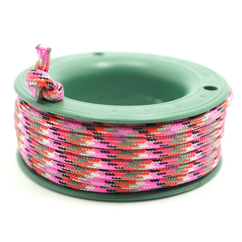 550 PARACORD MINI SPOOL - FUSCHIA GREY CAMO - Hock Gift Shop | Army Online Store in Singapore