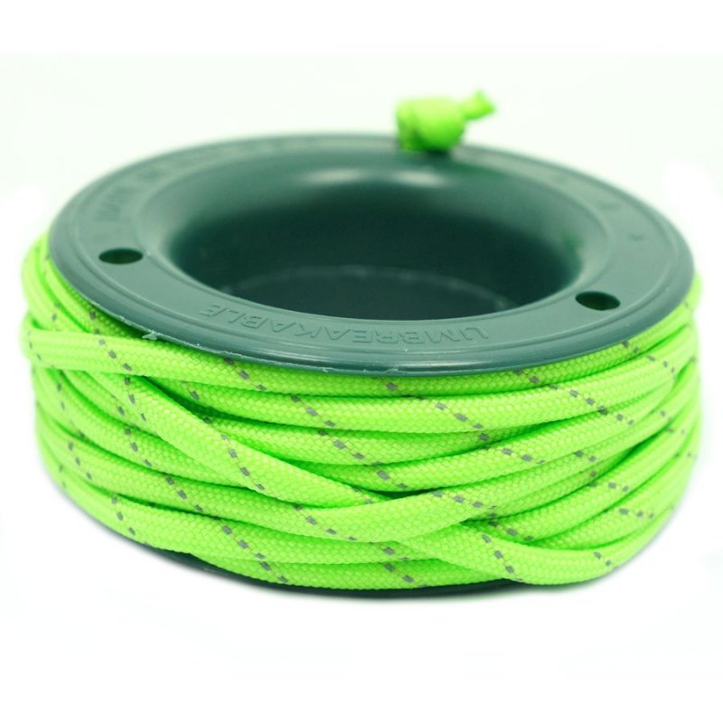 550 PARACORD MINI SPOOL - FLUOR GREEN REFLECTIVE - Hock Gift Shop | Army Online Store in Singapore